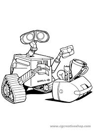 Wall E Robot Della Disney Pixar Disegno Da Colorare