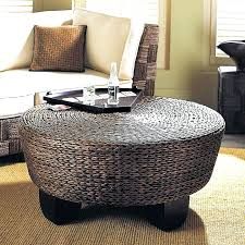 round ottoman coffee table awesome large perfect modern intended for 0 leather tray