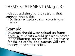 organization of an argument ppt  7 thesis