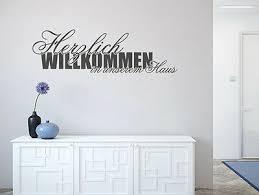 Wandtattoo Sprüche Herzlich Willkommen In Unserem Haus Nr 1 Flur