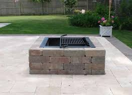 patio with square fire pit. Square Fire Pit Kit Modular Stone Pits Cape Cod, Islands Patio With