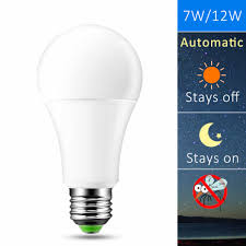 Led Light Bulbs Dusk To Dawn Sensor Lights Bulb Smart