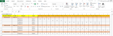 Excel based Resource Plan Template Free - Free Project Management ...