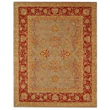 safavieh anatolia grey red 8 ft x 10 ft area rug