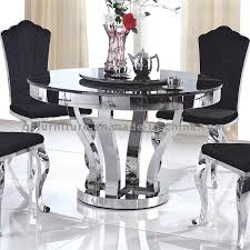 dining furniture metal base round marble dining table