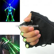 diy 1pcs red green laser gloves dancing stage show light with 4 pcs lasers and led