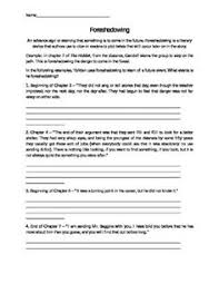 hobbit vocabulary worksheet and other hobbit worksheets d  foreshadowing in the hobbit