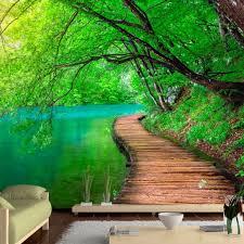 Vlies Tapete Top Fototapete Wandbilder Xxl 350x256 Cm Landschaft Natur Wald Brücke C A 0073 A B