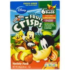Brothers-All-Natural, <b>Fruit</b>-<b>Crisps</b>, <b>Disney</b> Junior, <b>Variety Pack</b>, 6 ...
