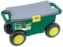 garden seat on wheels. Draper 60852 Gardeners Wheeled Tool Cart Box And Garden Seat Kneeler On Wheels