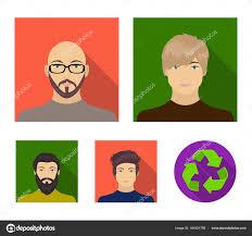 眼鏡とひげ髭の男髪型の男の出現でハゲ男の顔顔と外観がフラット