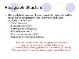 research paper the process ppt paragraph structure the analytical section of your research paper should be made up of paragraphs that