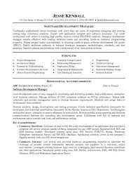 Software development manager resume to inspire you how to create a good  resume 19