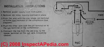 electric motor starting capacitor wiring installation simple relay and hard start capacitor wiring instructions example 2