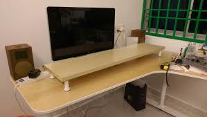 10cm lift desk shelf monitor stand ikea hackers ikea hackers desk shelf monitor stand
