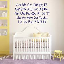 alphabet and numbers nursery letters