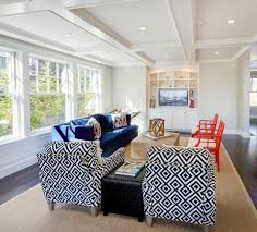 Sam Moore Furniture for a Beach Style Family Room with a Sisal Rug