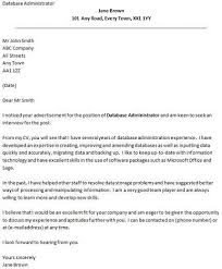 database administrator cover letter example database administrator cover letter