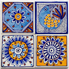hand painted ceramic tile coasters terranean inspired design jocelyn proust designs madeit