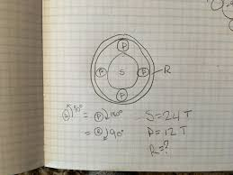 calculating the amount of teeth on ring gear in planetary gear system
