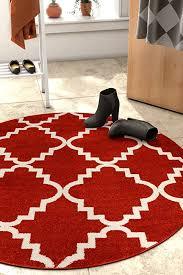 harbor trellis terracotta red moroccan lattice modern geometric 5 round 5 3