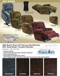 catnapper burns 4847 dual motor lift chair recliner information