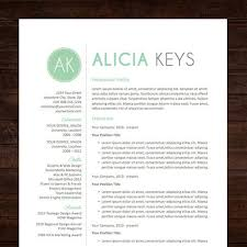 mint resume template professional package mac or pc for word creative modern teacher instant download the alicia free cover lettercover free cover letter downloads