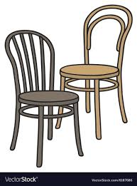 old wooden chair.  Chair Old Wooden Chairs Vector Image Throughout Wooden Chair