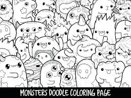cute coloring pages for girls. Unique Coloring Kawaii Girl Colouring Pages Coloring Monsters Doodle Page  Printable Cute For Kids And Adults  Girls P