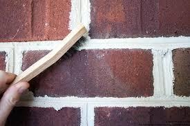 painted brick fireplace makeover tutorial paint mortar mix bricks messy