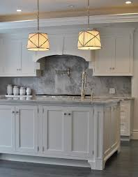 kitchen with gray marble backsplash view full size