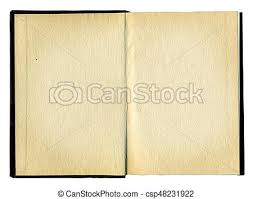 blank pages in an old book csp48231922