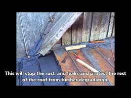 How to fix a Rusty - Pitted - Leaking Tin Roof during the Winter.
