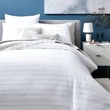 white stripe bedding white hotel stripe duvet cover