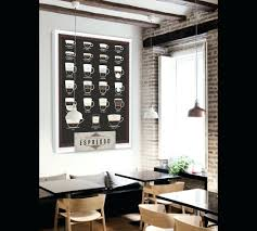 wall arts cafe canvas wall art metal coffee art decor cafe wall with regard to