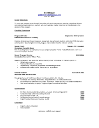 Coaching Resume Objective Examples Fine Coaching Resume Objective Examples Elaboration Documentation 1