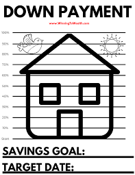 Down Payment Savings Coloring Sheet Winning To Wealth