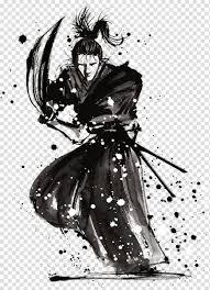 Black Samurai Painting Live House Mods Samurai Aikido Martial Arts