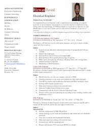 Sample Resume For Engineering Job Resume For Study