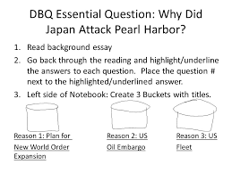 the road to war road map assignment double points you will be  dbq essential question why did attack pearl harbor