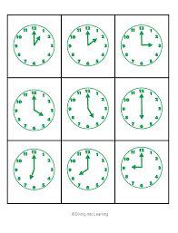 Collections of Telling Time Math Games, - Easy Worksheet Ideas