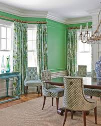 formal dining room curtains. Mint Green Wall Color For Formal Dining Room With Glass Chandelier And Spring Floral Curtain Curtains