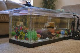 fish tank coffee table diy coffee table aquarium diy