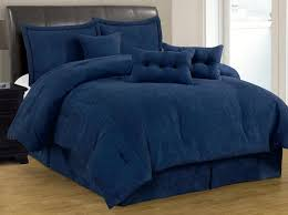 7-pc solid navy blue micro suede comforter set cal king size new ... & 7-pc solid navy blue micro suede comforter set cal king size new c18372 Adamdwight.com