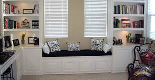 home office built ins built in window seat diy home office built ins