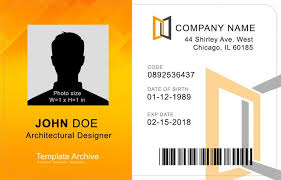 company id card templates 16 id badge id card templates free template archive