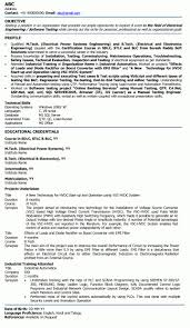 Electrical Engineering Resume Samples Electrical Engineering Fresher Resume Sample Download Free Resume