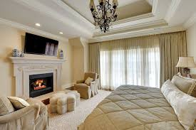 Sitting Area In Bedroom Long Soft Cozy Sofa Bench Master Bedroom With Fireplace And