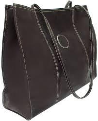 piel leather 2507 carry all market bag chocolate