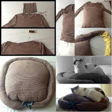 Diy <b>pet bed</b> made from <b>long</b> sleeve shirt; PLUS I believe that your ...